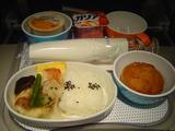 NZ 行き2回目の機内食