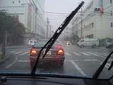 雨中ドライブ^^;