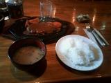 ハンバーグ定食 ¥840