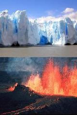 バドミントン・氷山と火山
