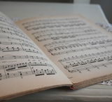 アンティークの楽譜