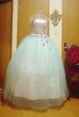 エムズ パニエ 緑ドレス 010