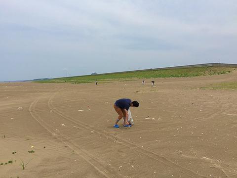 実践レポ:LELIBI定期海岸清掃(06/12、内灘)の様子