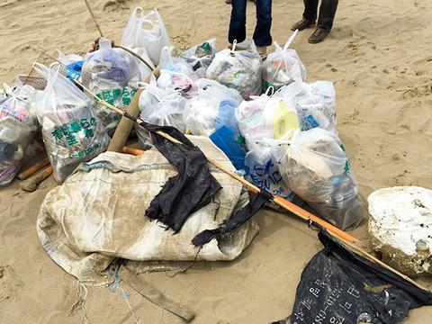 実践レポ:海岸清掃(04月)の様子