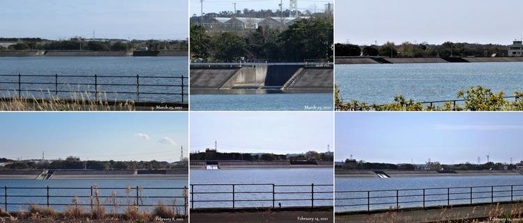 ⑩◆余水吐・導入流水路 ① 水位増減 H1505