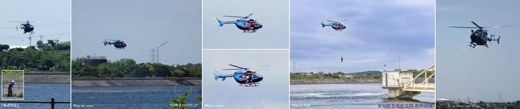 ②★愛知県警航空隊救助訓練01 川崎BK117C-2 あさやけ