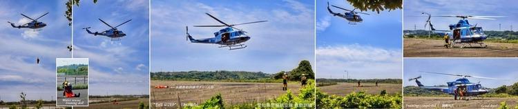 ④★★愛知県警航空隊救助訓練01 Bell 412EP あけぼの