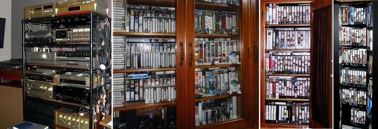 03- かつてのオーディオ機器とビデオ全盛時のS-VHSテープ