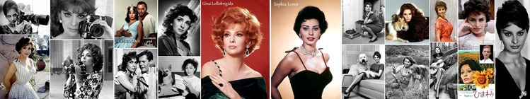 ■ Gina Lollobrigida and Sophia Loren H700