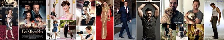 ■ Anne Hathaway and Hugh Jackman
