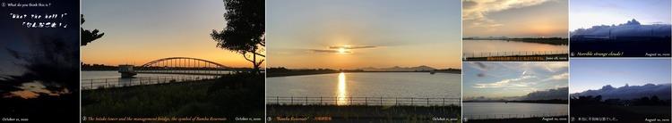 ●⑤夕日に染まる万場調整池W4071H750 - 01