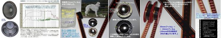 ※35mmフィルムとAltec Diaphragm コメント+++