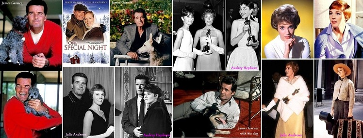 ■Jamese Garner,  Julie Andrews and Audrey Hepburn H730-1