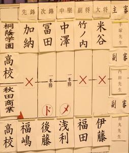 予選桐蔭対秋田商