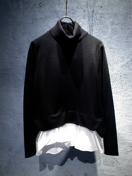 MUVEIL WORK -ミュベール ワーク- レイヤード風タートルカットソー