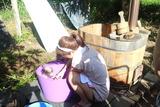 桃の葉風呂