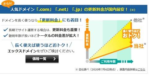 R020707 A8  2円1格安ドメイン名取得サービス