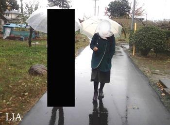 なつみさん 雨中