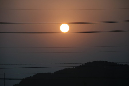 日の出 朝日 ザク ザクの目 太陽
