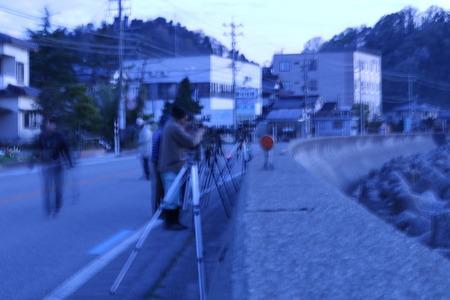 夜明け前の空 赤紫色の空 朝日 氷見市 (5)