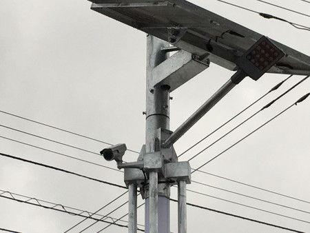 街路灯 ソーラー 風力 設置 工事 防犯カメラ (4)