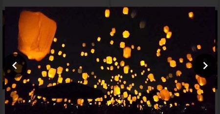 スカイランタン in KUROBE 夏の夜空に夢を乗せて (4)