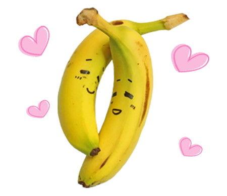 バナナ LINE スタンプ 写真 LOVE