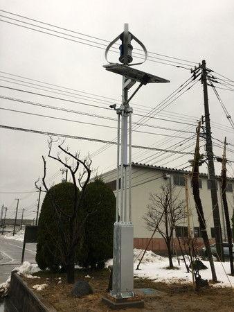 街路灯 ソーラー 風力 設置 工事 防犯カメラ (5)