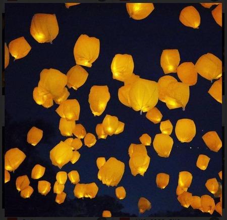 スカイランタン in KUROBE 夏の夜空に夢を乗せて (2)
