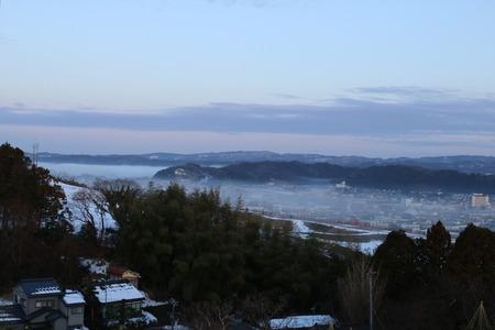 氷見市 朝日山公園 展望台 朝日 日の出 雲海 気嵐 霧 (7)