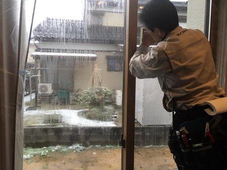 防犯フィルム 貼る 富山市 (2)