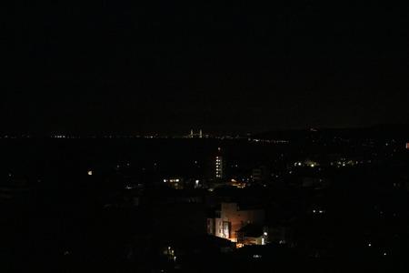 1 氷見市 朝日山 夜景 桜 ライトアップ (5)