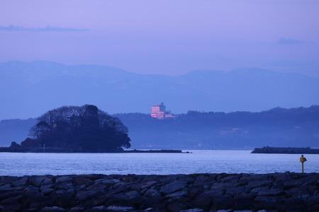 夜明け前の空 赤紫色の空 朝日 氷見市 (14)