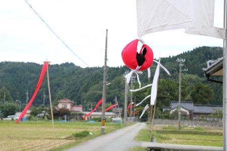 風 感じる 幟 旗 写真 (1)