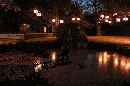 1 氷見市 朝日山 夜景 桜 ライトアップ (3)