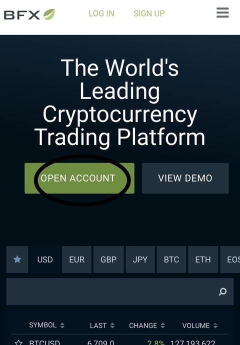 『Bitfinex』の仮想通貨取引所|登録方法