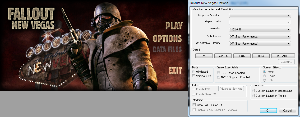 Fallout New Vegas Launcher Reloaded : FPSとTPSと時々RPG