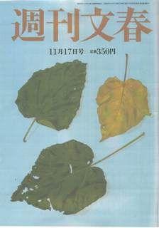 週刊文春表紙20111110