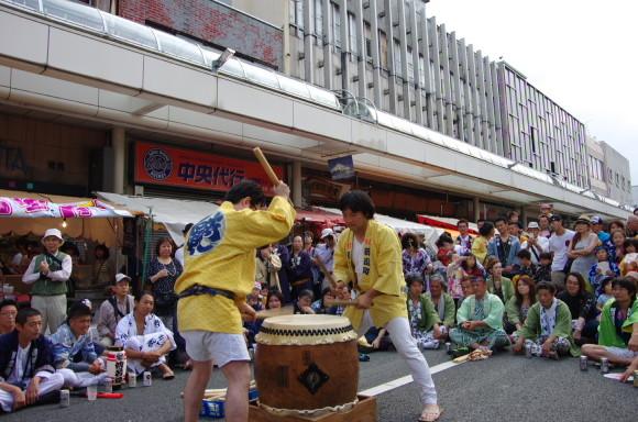 吉原祇園祭2013宮太鼓競演新追町