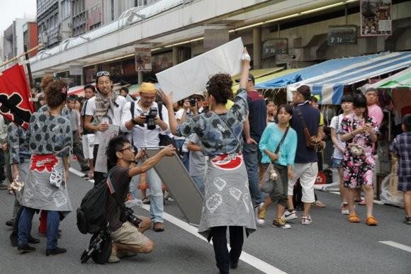 吉原祇園祭商店街占拠撮影
