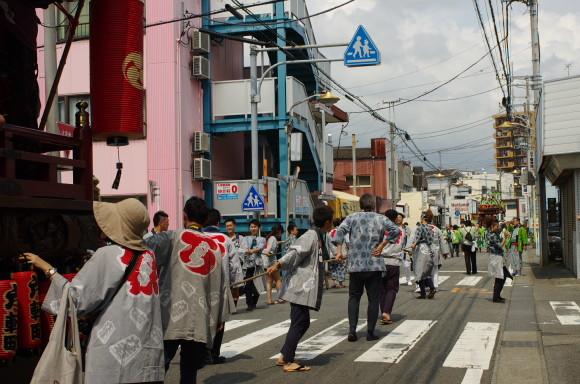 吉原祇園祭2013年でみずや前
