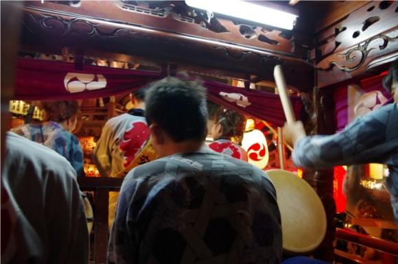 吉原祇園祭2012山車内部