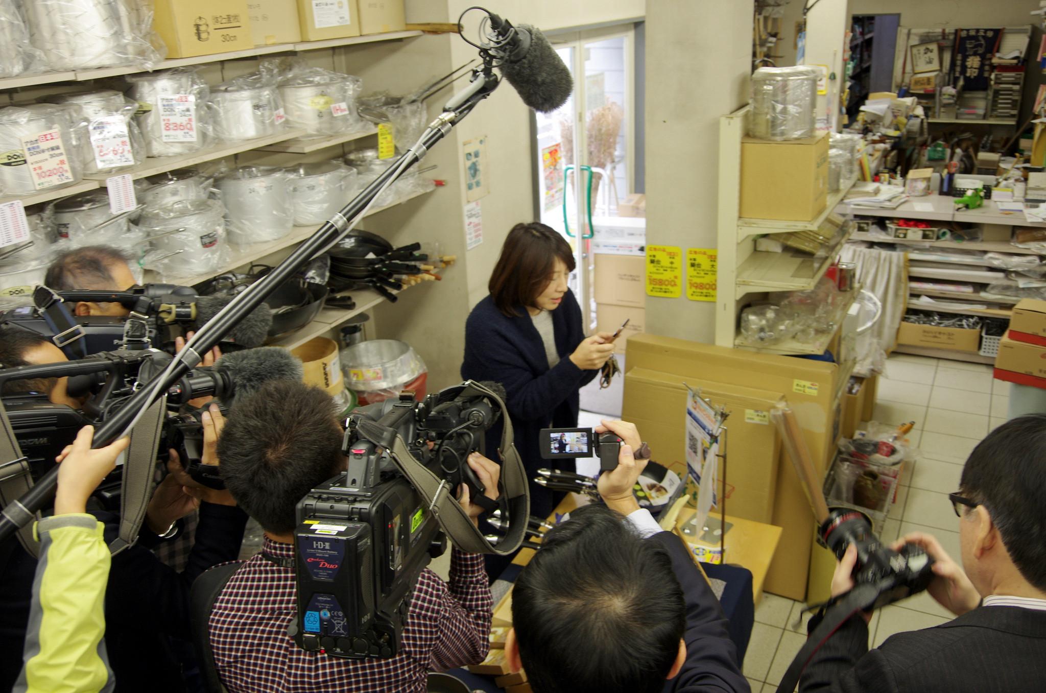 内藤金物店TV撮影