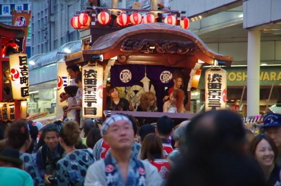 吉原祇園祭依田原三丁山車