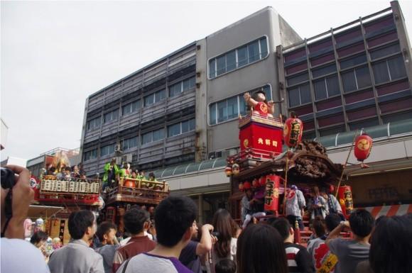 吉原祇園祭2012山車集結