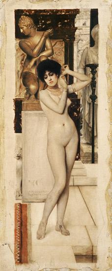 Skigge Und Eingelstudie Fur Die Allegorie Der Skulptu