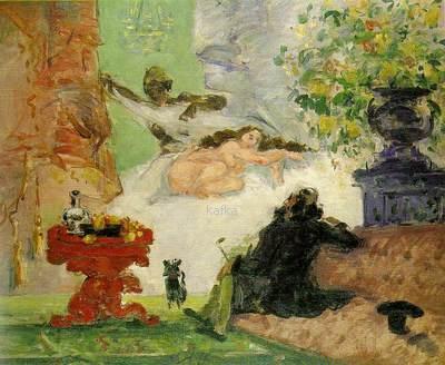 Paul Cézanne A Modern Olympia. c. 1873. Oil on canvas. Musée d'Orsay, Paris