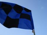 青黒チェッカーフラッグ