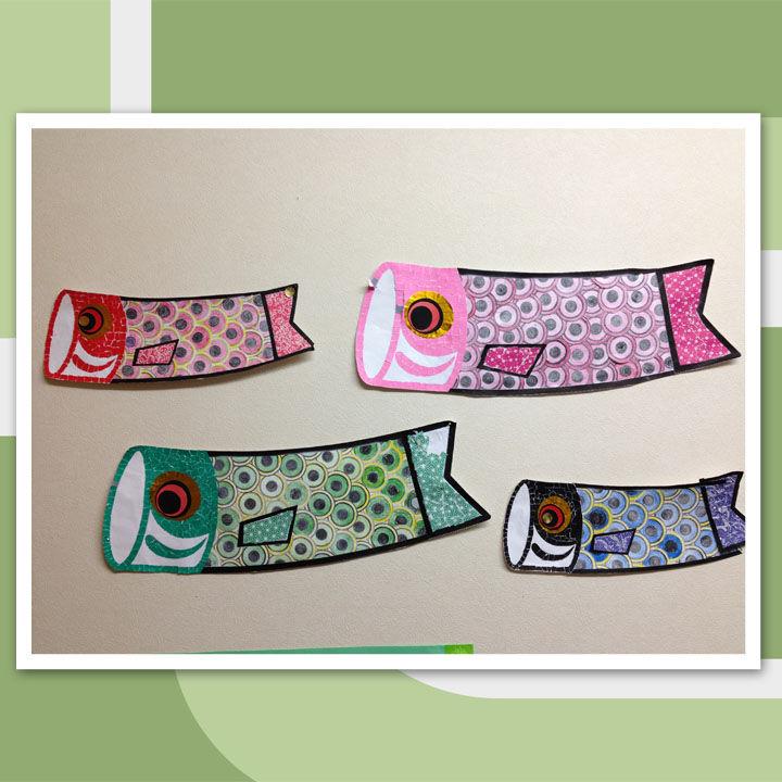 すべての折り紙 折り紙 切り絵 桜 : 月の鯉のぼりはウロコの部分 ...