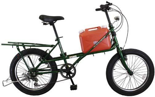 役立つ自転車!ポリタンク運搬 ...